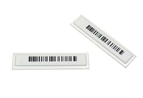 AM labels white with barcode - 5000 pcs. box