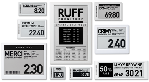 SoluM Graphic Electronic Label (Black / White)