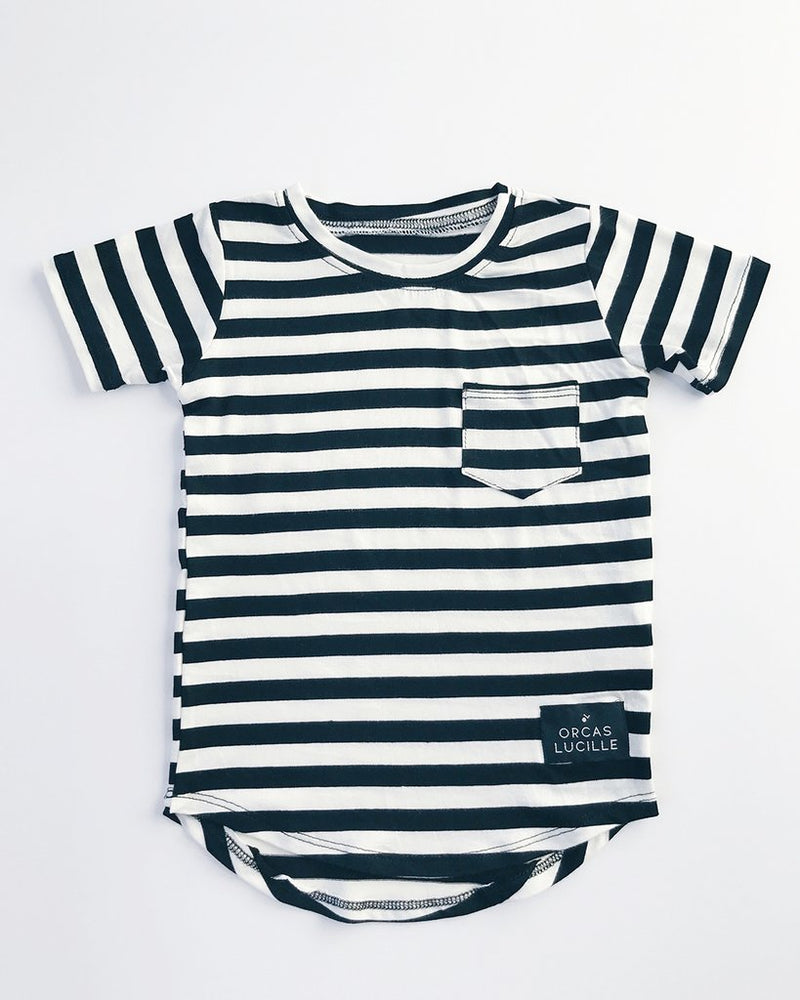 Curved Hem Striped Baby T Shirt - Strollerdepot