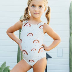 Sea Arches Rainbow Girls Swimsuit
