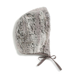 Taupe Reversible Fur Bonnet