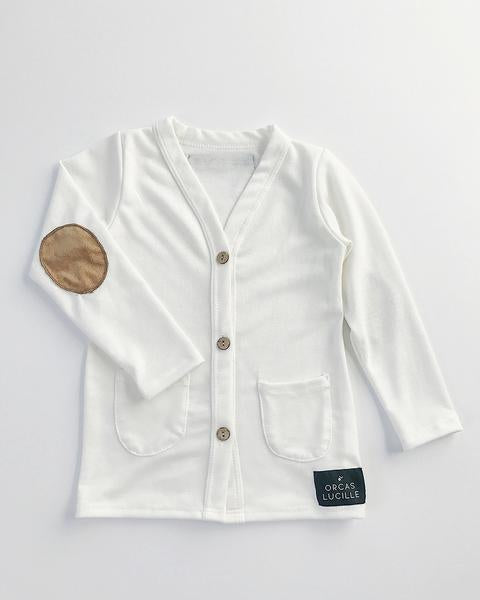 Orcas Lucille - Elbow Patch Cardigan Ivory