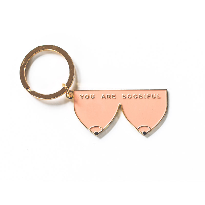 Confetti Riot You Are Boobiful Peach Keychain - Strollerdepot