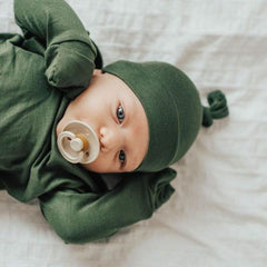 Matcha Green Baby Knot Caps - Strollerdepot