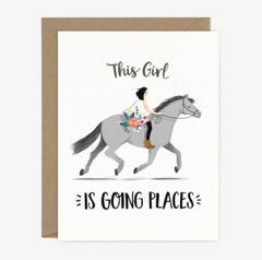 Going Places Pony Card - Strollerdepot