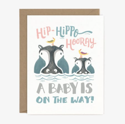 Hippo Hooray Card