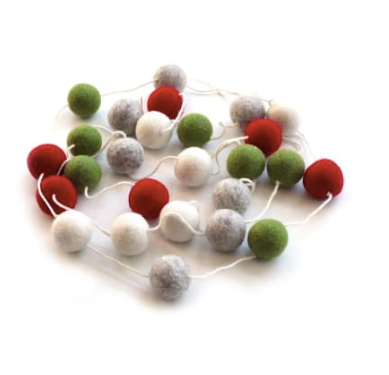 Felt Ball Garland- Various Colors - Strollerdepot