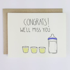 Congrats! We'll Miss You Pregnancy Card - Strollerdepot