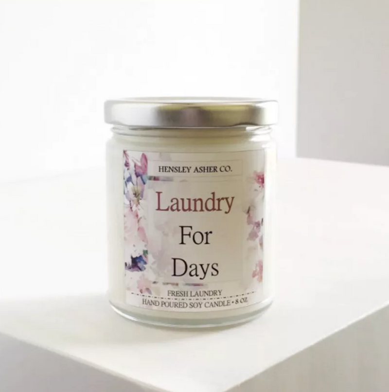 Motherhood Inspired Sayings Fresh Laundry Soy Candle 8oz - Strollerdepot