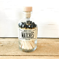 Made Market Co. - Vintage Apothecary Matches - Black - Strollerdepot
