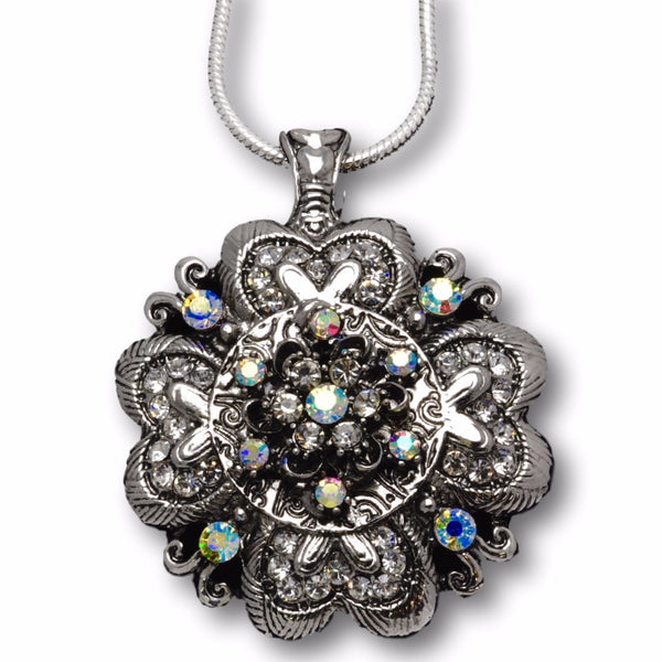 Magnetic Flower/Crystal Pendant