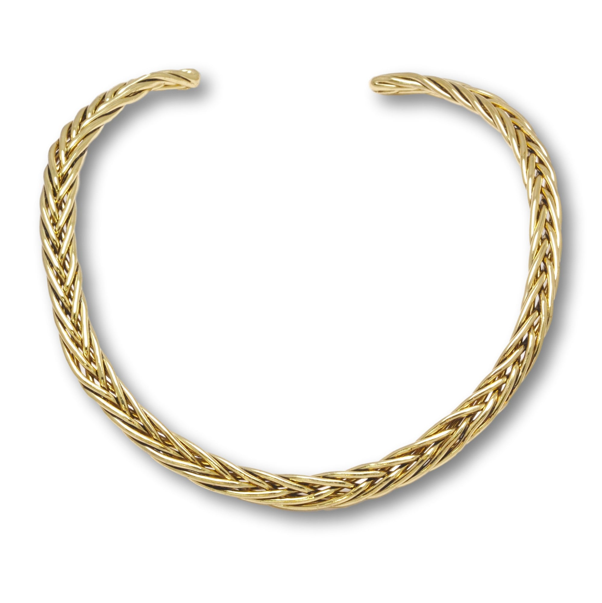 Gold Braided Choker (Lead Free)