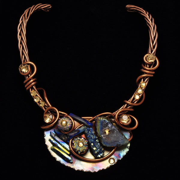 Chalcopyrite/Crystal Copper Wire Choker
