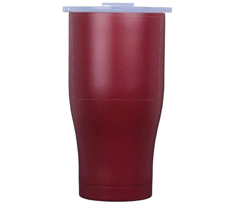27 oz Crimson/White Lid