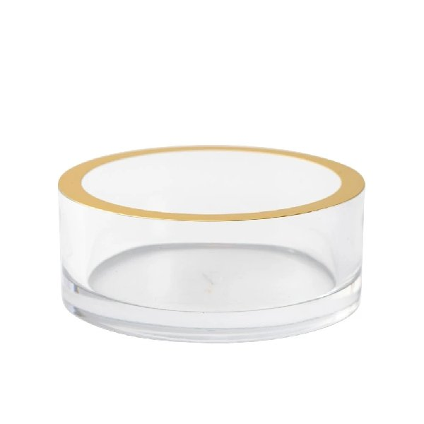 Acrylic Wine Coaster with Gold Trim - Boutique Marie Dumas
