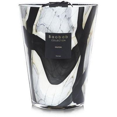 Baobab Collection - Large Stones Marble Candle - Boutique Marie Dumas