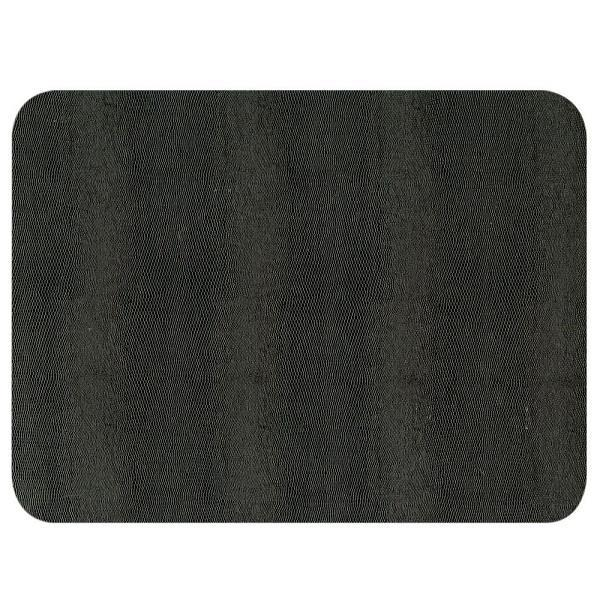Black Rectangular Lizard Felt Back Placemat - Boutique Marie Dumas