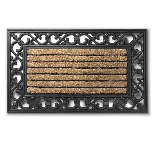 Coir/Rubber Grill Mat with Border - Boutique Marie Dumas