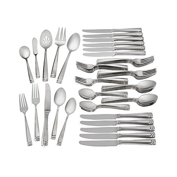 Conover Stainless Steel Flatware 65 Piece Set - Boutique Marie Dumas