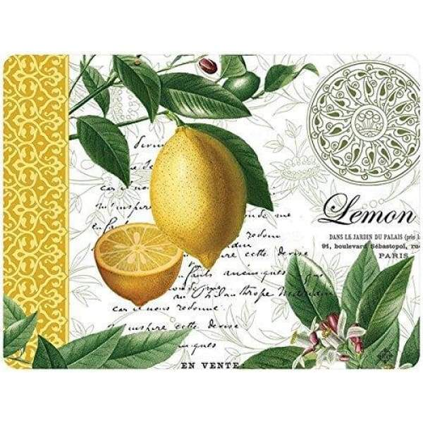 Cork Placemats Set of 4 - Citron - Boutique Marie Dumas