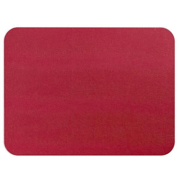 Cranberry Rectangular Lizard Felt Back Placemat - Boutique Marie Dumas