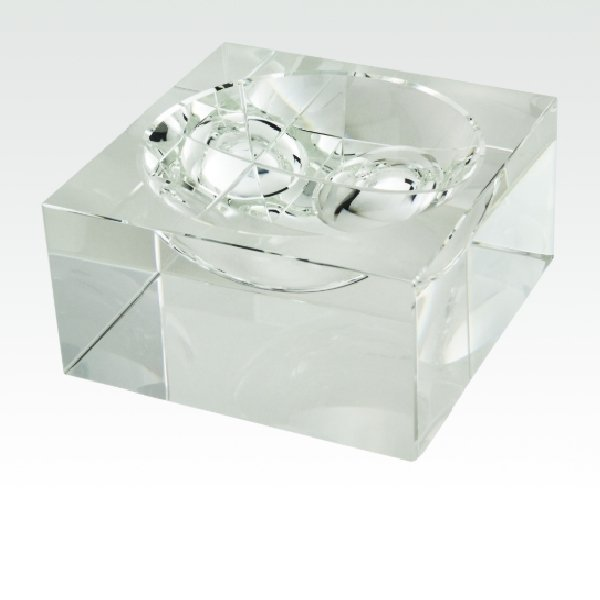 Crystal Bowl Centerpiece - Small - Boutique Marie Dumas