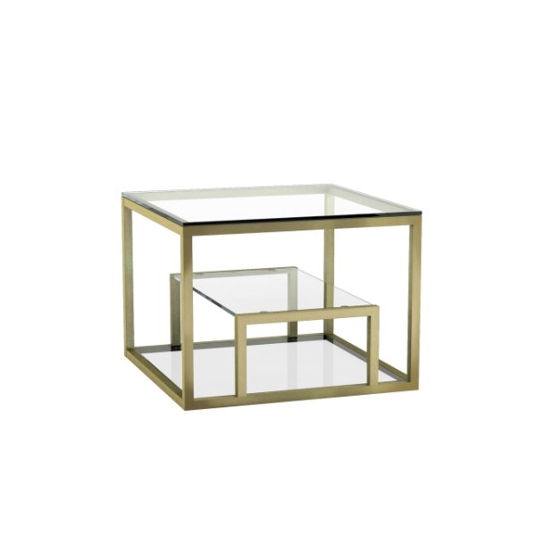 Ella Brushed Gold End Table - Boutique Marie Dumas