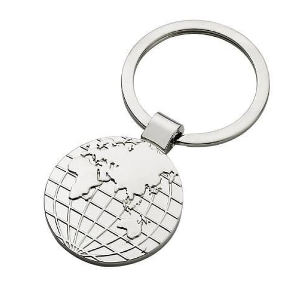 Globe Keychain With Plain Polished Backside - Boutique Marie Dumas