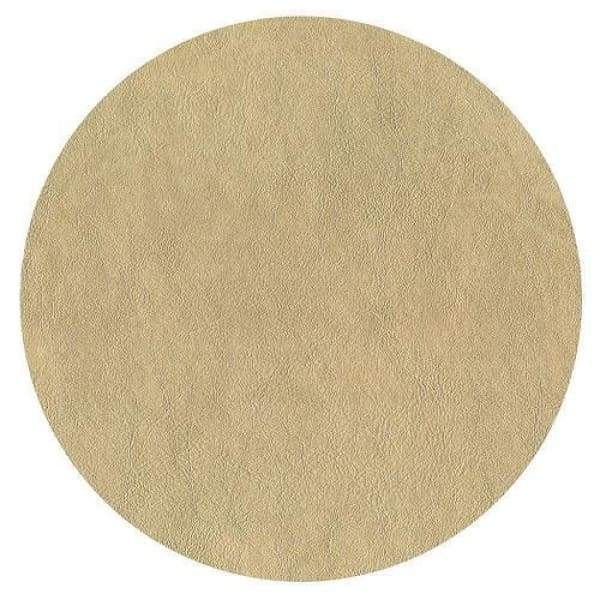 Gold Faux Leather Round Felt Back Placemat - Boutique Marie Dumas