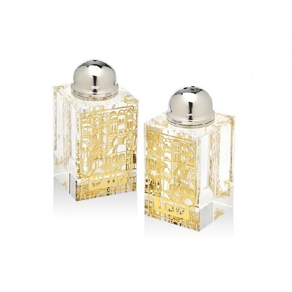 Gold Sabbath Salt and Pepper Set - Boutique Marie Dumas