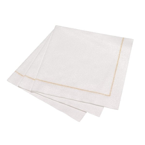 Golden Hemstitch Napkins - Dinner - Boutique Marie Dumas