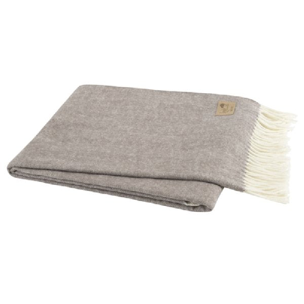 Italian Herringbone Throw - Mink - Boutique Marie Dumas