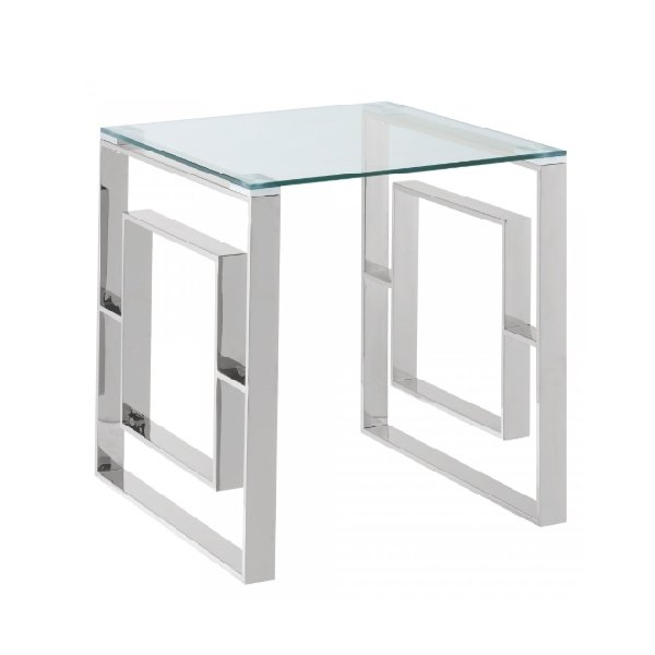 Jenna Silver End Table - Boutique Marie Dumas
