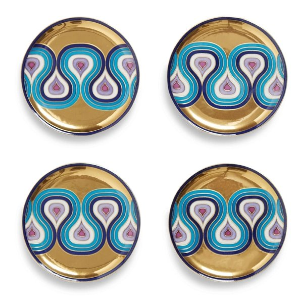 Jonathan Adler Milano Coasters Gold & Blue - Boutique Marie Dumas