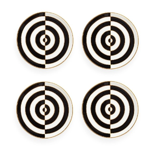 Jonathan Adler Op Art Coasters Black & White - Boutique Marie Dumas