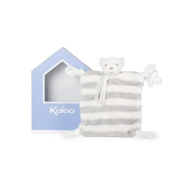 Kaloo Bébé Pastel Doudou Bear, Grey & Cream - Boutique Marie Dumas