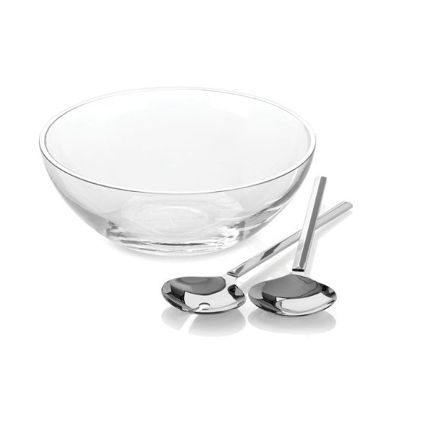 Kate Spade Gramercy Salad Bowl and Servers - Boutique Marie Dumas