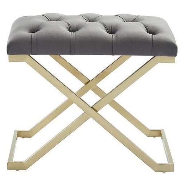 Kylie Bench Grey and Gold - Boutique Marie Dumas