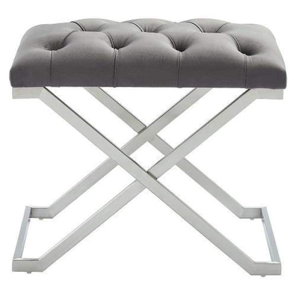 Kylie Bench Grey and Silver - Boutique Marie Dumas