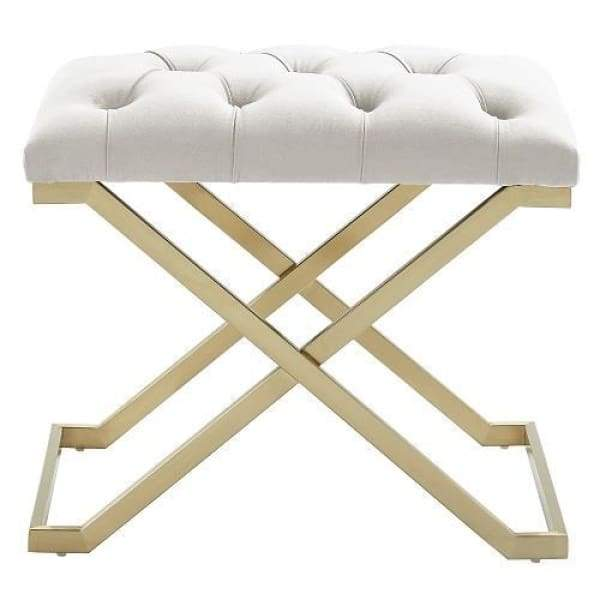 Kylie Bench Ivory and Gold - Boutique Marie Dumas