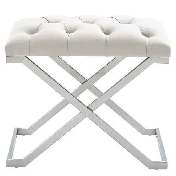 Kylie Bench Ivory and Silver - Boutique Marie Dumas