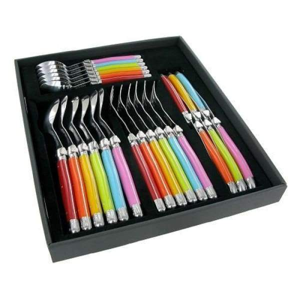 Laguiole by Andre Verdier 24pc Multicolour Flatware Set - Boutique Marie Dumas