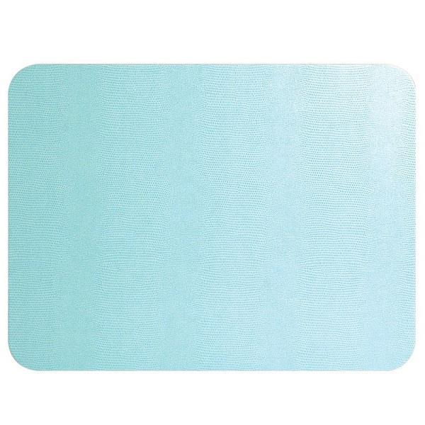 Light Blue Rectangular Lizard Felt Back Placemat - Boutique Marie Dumas