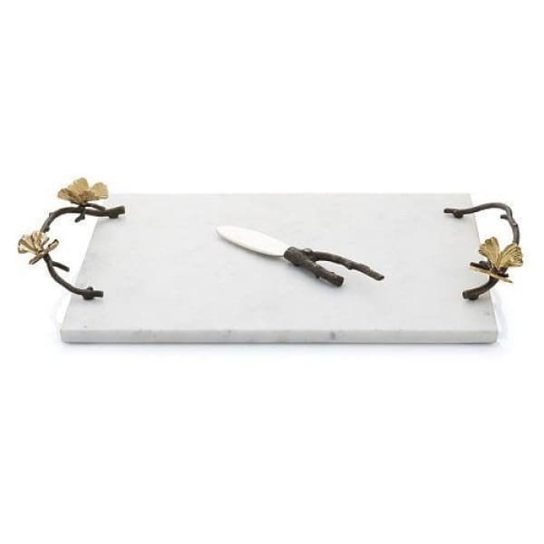 Michael Aram Butterfly Ginkgo Cheese Board w/ Knife - Boutique Marie Dumas