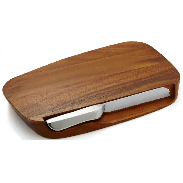 Nambe Blend Bread Board w/ Knife - Boutique Marie Dumas
