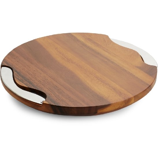 Nambe Cheese Board w/Knife & Spreader - Boutique Marie Dumas