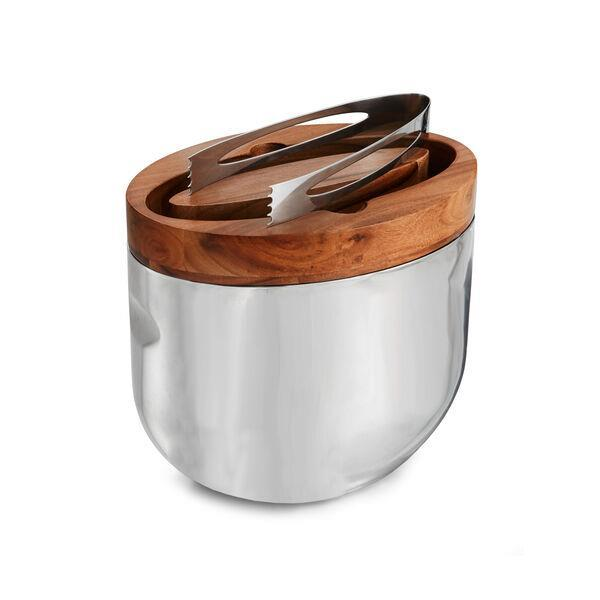 Nambe Mikko Ice Bucket with Tongs - Boutique Marie Dumas