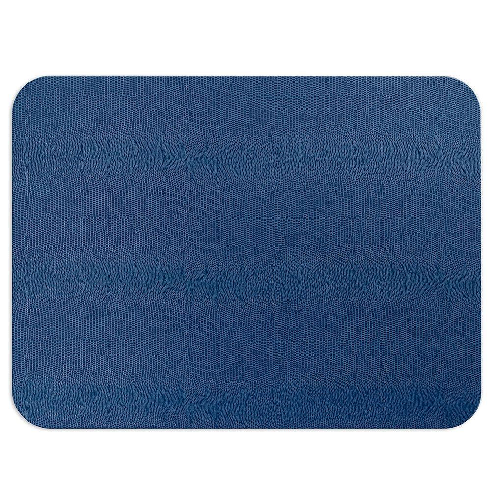 Navy Rectangular Lizard Felt Back Placemat - Boutique Marie Dumas