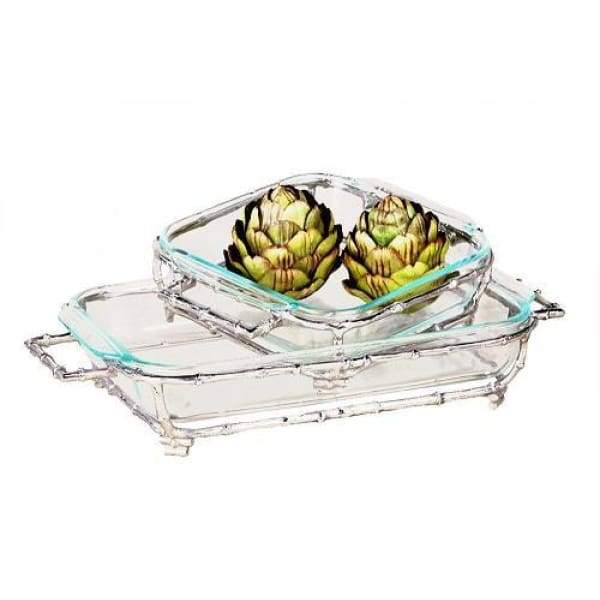 Nickel Bamboo Square Pyrex Holder - Boutique Marie Dumas