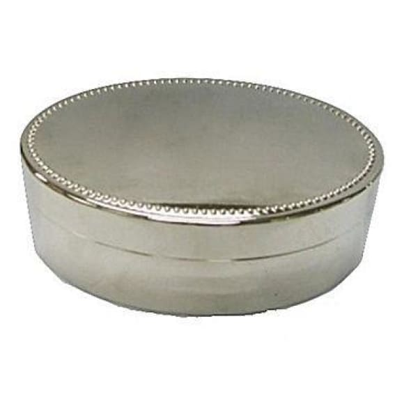 Nickel Plated Oval Jewelry Box - Boutique Marie Dumas